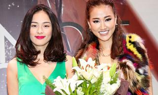 Bạn gái Cường Đô la ôm hoa tươi rói đến chúc mừng Maya