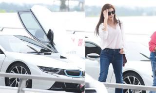 Cận cảnh chiếc siêu xe sang trọng Ha Ji Won tự lái