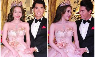 Elly Trần đội vương miện như 'công chúa nhìn Trương Nam Thành say đắm