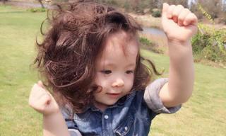 Cadie Mộc Trà đầu tóc bù xù nhưng vẫn đáng yêu