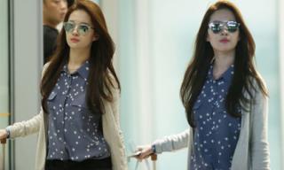 Lưu Diệc Phi mặc giản dị vẫn 'hút hồn' tại sân bay