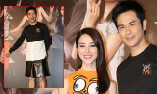 Trịnh Gia Dĩnh mặc váy dự sự kiện cùng bạn gái Hoa hậu