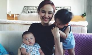 Sự thật việc Hoa hậu Diễm Hương sinh con lần 2