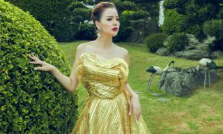 Á hậu Ruby Anh Phạm đẹp tựa nữ thần trong gam màu hoàng gia