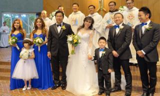 Con trai Bằng Kiều làm phù rể trong đám cưới ca sĩ Mai Thiên Vân