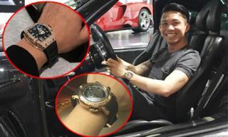 Không chỉ siêu xe, Minh Nhựa còn sở hữu bộ sưu tập đồng hồ khủng