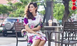 Học phong cách thời trang điệu đà xuống phố của vợ Huy Khánh