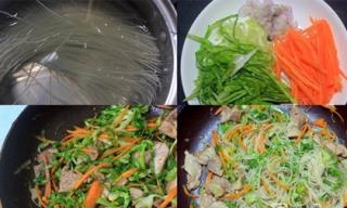 Khi đã chán cơm, hãy thử món bún khô xào rau bắp cải