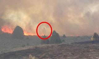 Bức ảnh được cho là hồn ma lơ lửng trong đám cháy