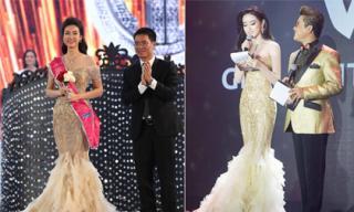 Á hậu Huyền My nói gì khi Tân Hoa hậu Việt Nam 2016 mặc váy 'na ná' mình?