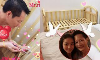 Chồng đại gia của Phan Như Thảo tự tay sửa cũi cho con gái sắp sinh