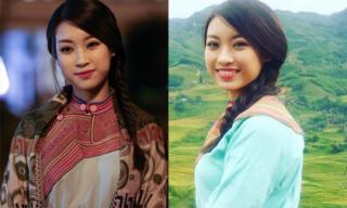 Hoa hậu Mỹ Linh 'gây thương nhớ' khi diện đầm thổ cẩm