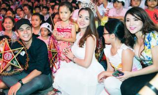Đội vương miện tặng quà trung thu - Á hậu Ruby Anh Phạm như nàng tiên trong câu chuyện cổ tích