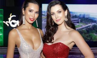 Hà Anh khoe vòng một căng tràn lấn át Hoa hậu Hoàn vũ 2005