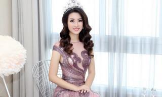 Hoa hậu Mỹ Linh đẹp 'không tỳ vết' trong trang phục đầm dạ hội