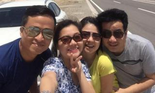 Vợ chồng Thanh Ngọc, Ngô Quỳnh Anh cùng đi du lịch Phan Thiết