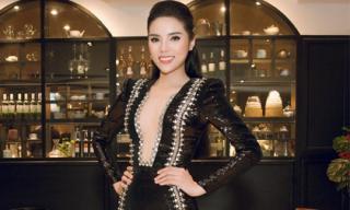 Hoa hậu Kỳ Duyên táo bạo diện đầm khoét sâu tới rốn lộ vòng một lấp ló