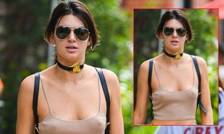 Kendall Jenner thả rông ngực giữa phố đông người