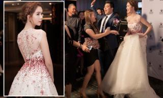 Ngọc Trinh xuất hiện lộng lẫy như công chúa, bị fans vây kín ở Úc