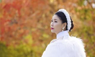Hà Kiều Anh đẹp kiêu sa trong tà áo dài truyền thống ở Canada