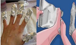 Điều kỳ diệu sẽ xảy ra khi bạn lấy giấy bạc bọc chân, tay