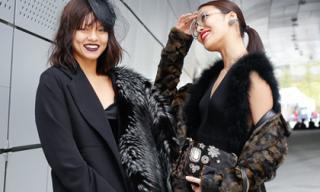Lan Khuê và Mai Ngô gây chú ý tại Hàn Quốc với thời trang độc - lạ