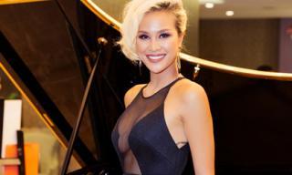 MC Phương Mai hở bạo với đầm dạ hội