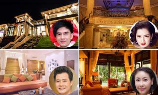 'Đã mắt' ngắm không gian lung linh, tráng lệ của biệt thự nhà sao Việt khi lên đèn