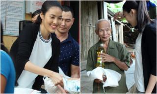 Lan Khuê rạng rỡ cùng team về miền Trung làm từ thiện