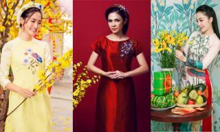 Sao Việt xúng xính diện áo dài đón Tết Nguyên đán 2017