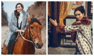 Khánh My cưỡi ngựa, luyện võ dưới cái lạnh 2 độ ở Hàng Châu