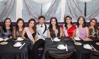 Dàn hoa hậu, á hậu, Nam vương của Minh Chánh Entertainment tổ chức tiệc mừng chiến thắng