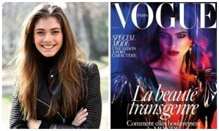Vẻ quyến rũ 'chết người' của người mẫu chuyển giới đầu tiên trên bìa Vogue Paris
