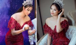 Mặc đẹp như nữ hoàng, Phạm Hương vẫn tự nhiên trổ tài làm bánh đặc sản miền Tây