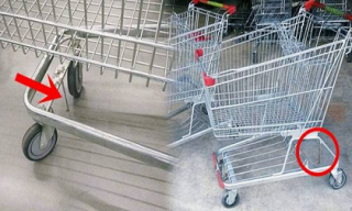 Vì sao xe đẩy hàng ở siêu thị có một chuỗi xích nhỏ gắn vào phần dưới xe, không có cực nguy hiểm?