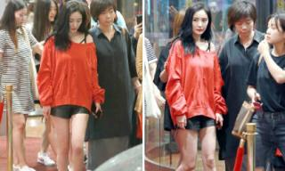 Set đồ đỏ đen rách tả tơi của Dương Mịch gây chú ý đặc biệt