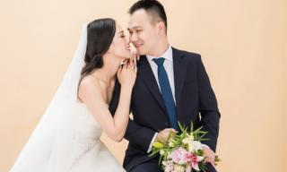Ảnh cưới đẹp lung linh của Á hậu Đại dương và chồng giảng viên Đại học