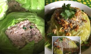 Bắp cải nhồi thịt nóng hổi cho bữa cơm tối nay