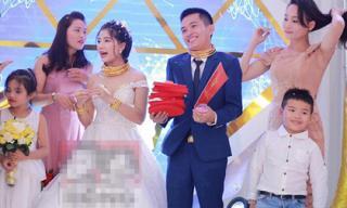Đám cưới siêu khủng ở Nghệ An: Cô dâu chú rể được tặng cả biệt thự, ô tô