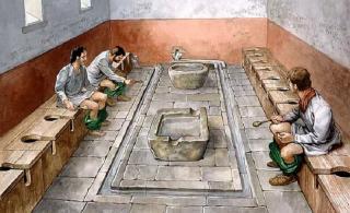 Những sự thật gây sốc về nhà vệ sinh ở La Mã cổ đại