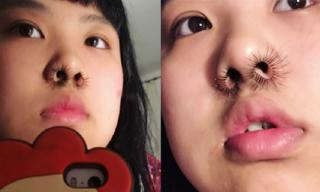 Xu hướng lông mũi dài khó hiểu của giới trẻ ngày nay