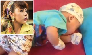 Sau tin đồn bạo hành con trai, Bella tung clip khoe con mũm mĩm tập lẫy