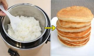 Thêm một cách tận dụng cơm nguội làm bánh rán ăn sáng cực ngon