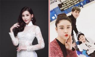 Tin sao Việt 24/11/2017: Ngân Anh nói gì khi không bị tước vương miện, vợ chồng Trương Quỳnh Anh đưa con đi trượt băng