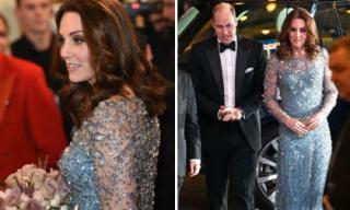 Bầu bí mà Công nương Kate Middleton đẹp hết phần người khác khi diện đầm đính pha lê