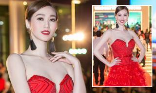 Khánh My 'càn quét' lễ khai mạc Liên hoan phim Việt Nam với thiết kế đỏ rực