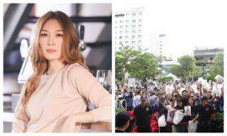 Fans đội nắng xếp hàng dài tại phố đi bộ Nguyễn Huệ để sở hữu album mới nhất của Mỹ Tâm