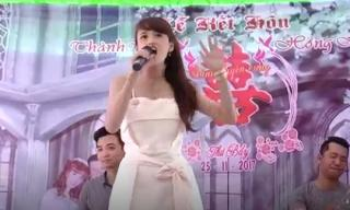 Đây chính là cô gái hát nhạc đám cưới tự tin nhất Vịnh Bắc Bộ