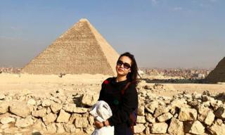 Diễn viên Hồng Ánh tận hưởng những trải nghiệm thú vị ở Ai Cập