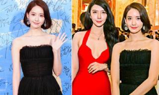 Yoona diện đầm cúp ngực 'đọ sắc' bên mỹ nhân Trung Quốc
